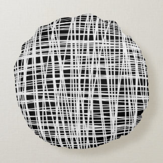 Black and white abstract pillow