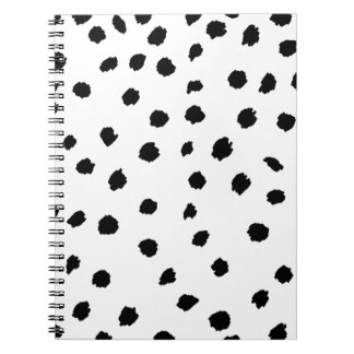 Black and White Abstract Polkadot Notebook