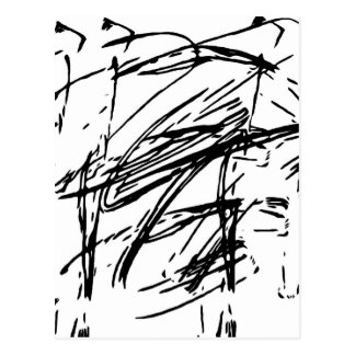 Black and white abstract postcard