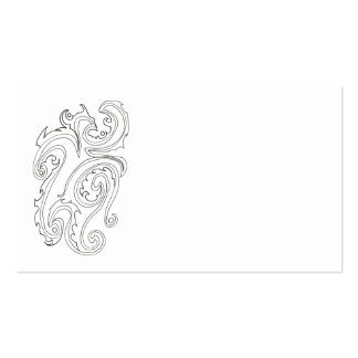 Black And White Abstract Sea Creature-Ink Drawing Business Card
