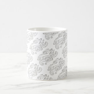 Black And White Abstract Sea Creature-Ink Drawing Coffee Mug