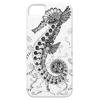 Black and White Abstract Seahorse iPhone 5 Cover