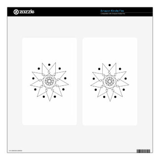 Black and White Abstract Shape Skin For Kindle Fire