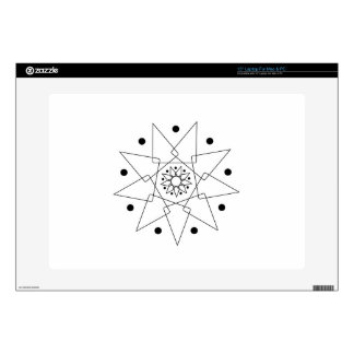 "Black and White Abstract Shape Skins For 15"" Laptops"