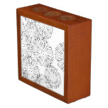 Black and white abstract spring flowers desk organizer