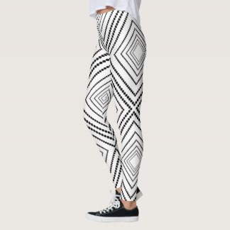 Black and White Abstract Squares Leggings