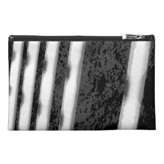 Black and White Abstract Stripes. Travel Accessories Bags