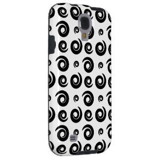 Black and White Abstract Swirls Galaxy S4 Case