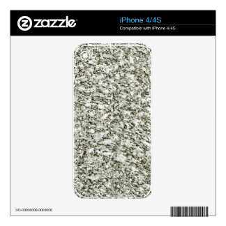 Black and White Abstract Texture iPhone 4S Skin