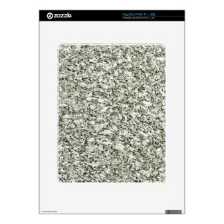 Black and White Abstract Texture Skins For iPad