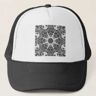 Black And White Abstract Trucker Hat