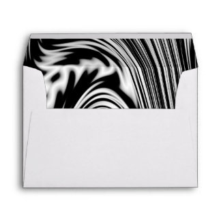 Black and White Abstract Twist Envelope