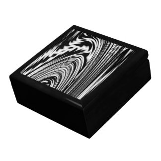 Black and White Abstract Twist Jewelry Box