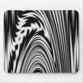 Black and White Abstract Twist Mouse Pad