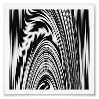 Black and White Abstract Twist Photo Print