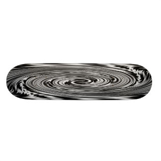Black and White Abstract Twist Skate Deck