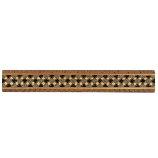 Black and White Abstract Walnut Ruler