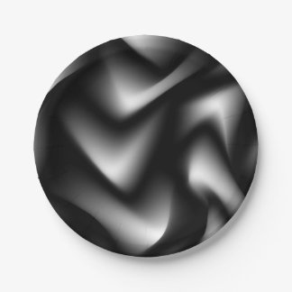 Black and White Abstract Zebra Paper Plate