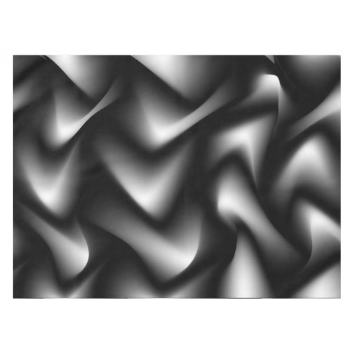 Black and White Abstract Zebra Tablecloth