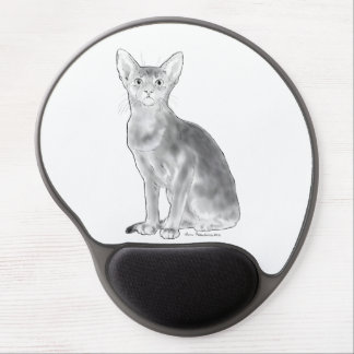 Black and White Aby Gel Mouse Pad