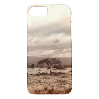 Black and White Acacia on the African Savanna iPhone 7 Case