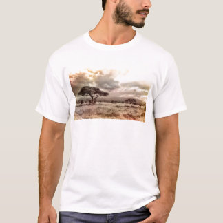 Black and White Acacia on the African Savanna T-Shirt