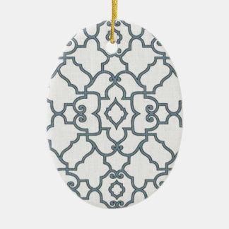 Black and White Accessories Ceramic Ornament
