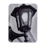 Black and White aceo Magnet