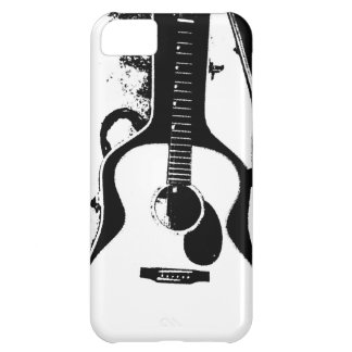 Black and White Acoustic Guitar Case iPhone 5C Cases