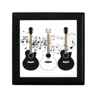 Black and White Acoustic Guitar Pop Art Trio Gift Box