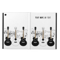 Black and White Acoustic Guitars Pop Art Vector iPad Air Cases