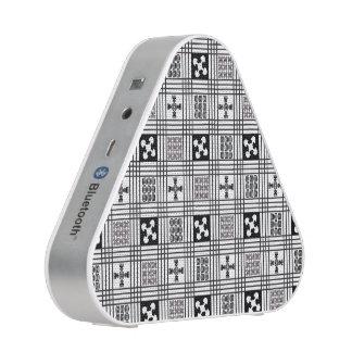 Black and White Adinkra pattern Bluetooth Speaker