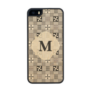 Black and White Adinkra pattern Carved® Maple iPhone 5 Slim Case