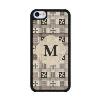 Black and White Adinkra pattern Carved® Maple iPhone 5C Slim Case