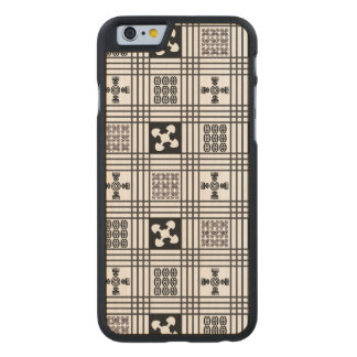 Black and White Adinkra pattern Carved® Maple iPhone 6 Slim Case