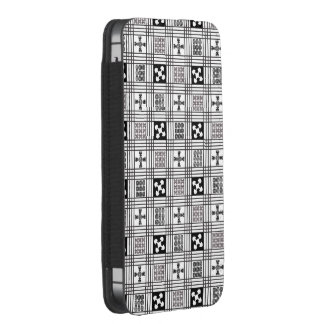 Black and White Adinkra pattern iPhone 5 Pouch