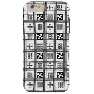 Black and White Adinkra pattern Tough iPhone 6 Plus Case