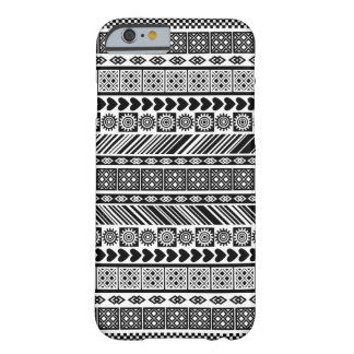 Black and White Adinkra Symbol Kente Cloth Pattern Barely There iPhone 6 Case