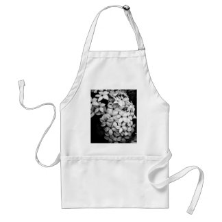 Black and white adult apron