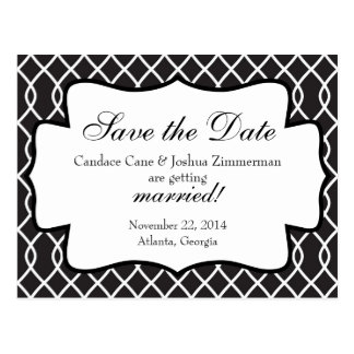 Black and White Affair Save the Date Post Card
