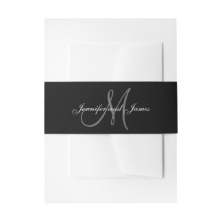 Black and White Affair | Wedding Belly Band
