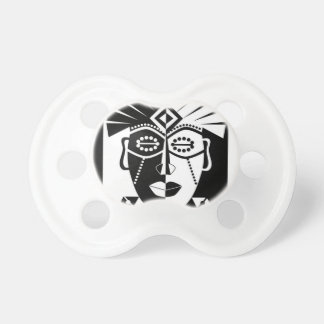 Black and white African mask Pacifier