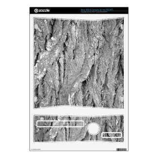 Black and White Aged Bark Decals For The Xbox 360 S