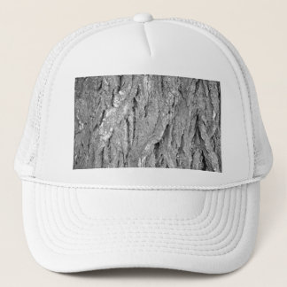 Black and White Aged Bark Trucker Hat
