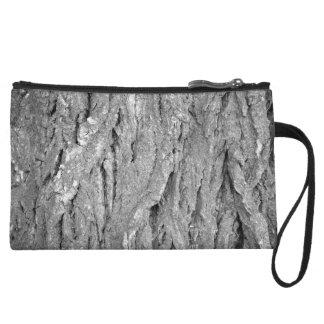 Black and White Aged Bark Wristlet Wallet