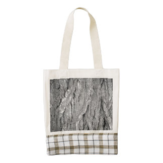 Black and White Aged Bark Zazzle HEART Tote Bag