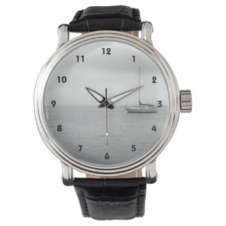 Black and White ailboat Photo Watch