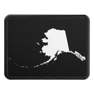 Black and White Alaska Hitch Covers