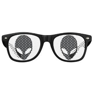 Black and White Alien Head Wayfarer Sunglasses