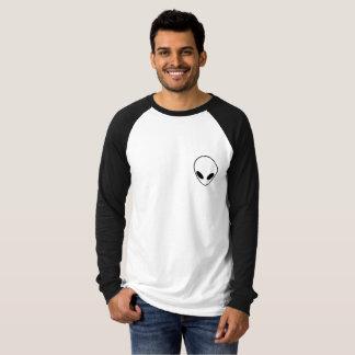 Black and White Alien Ringer T-shirt